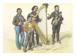 Musicians of Viggiano, as imagined in a book in 1853