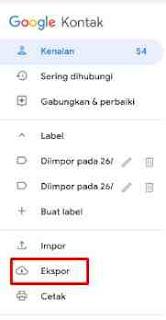 Cara Backup Kontak