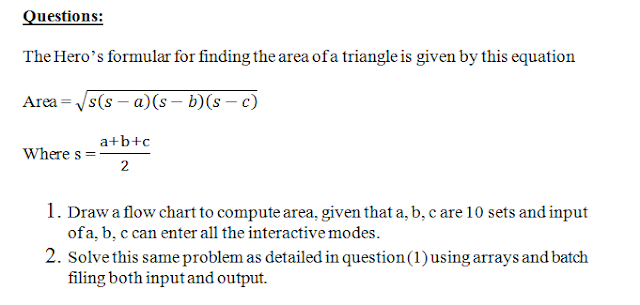 calculate area of triangle using Hero's formula