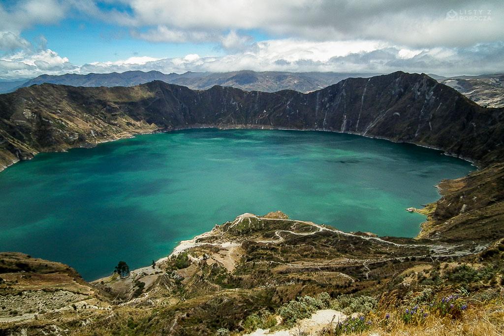 Laguna Quilotoa w Ekwadorze