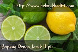 Menghilangkan bekas jerawat dengan jeruk nipis