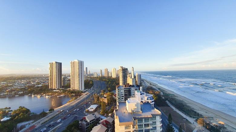 a bird's eye view photo of Gold Coast Queensland