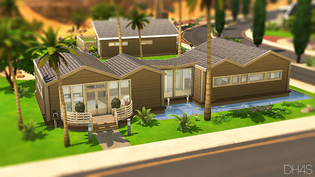 Sims 4 Palm Springs California House