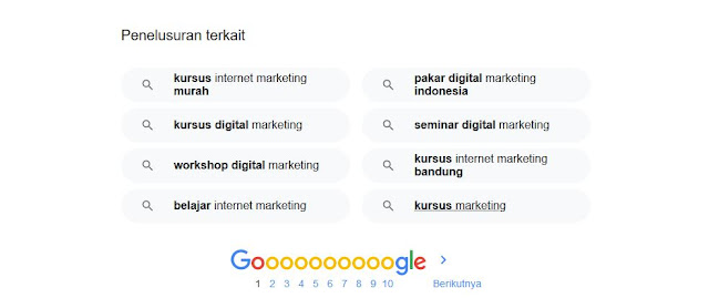 pelatihan internet marketing