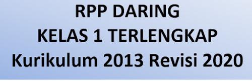 RPP Daring Kelas 1 Terlengkap Semua Temanya