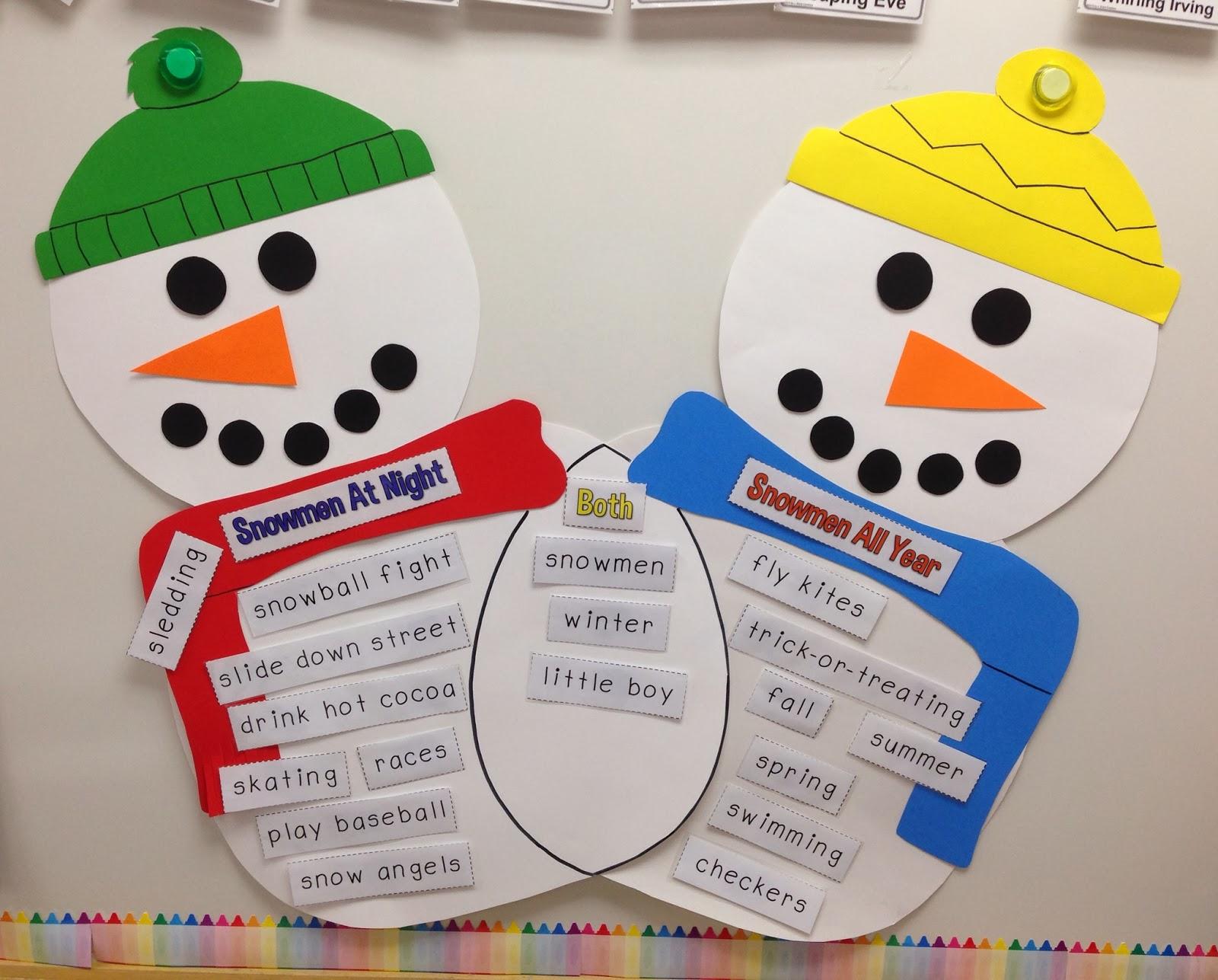 Venn Diagram: Snowmen | abcteach |Snowmen Venn Diagram