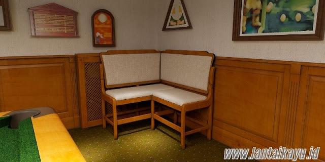 ide dekorasi ruang billiard - sediakan tempat duduk