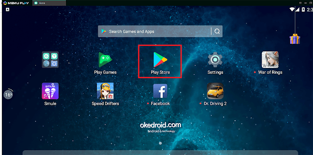 Pilih Google Play Store Emulator Memu Android PC Laptop