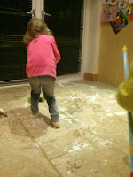cleaning indoor snow