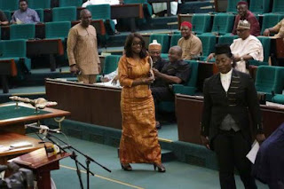 Finance Minister, Kemi Adeosun at House of Representatives