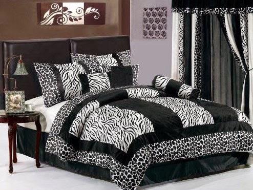 dormitorio estampados cebra