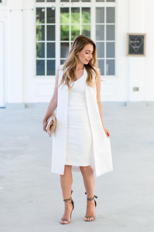 OOTD - White Plus Grey Equals Summer | La Petite Noob | A Toronto-Based Fashion and Lifestyle Blog.