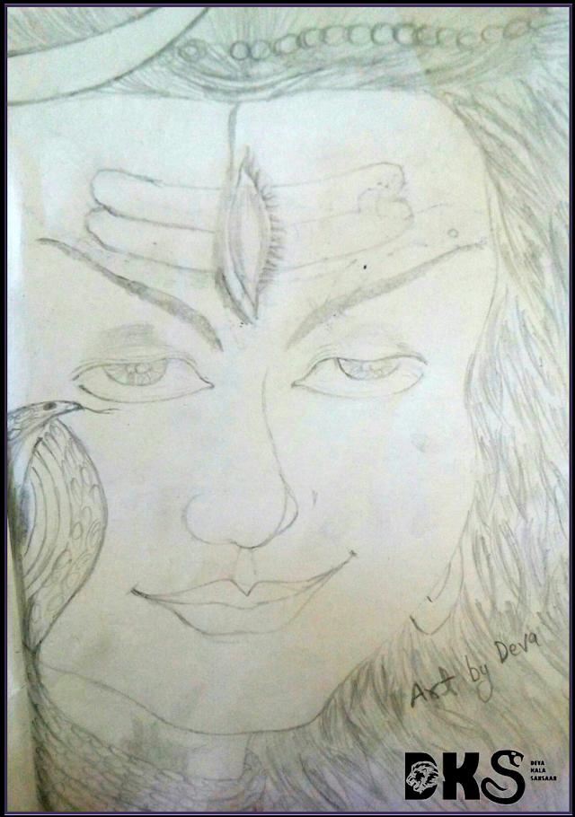 God drawing || Pencil Drawing of God Shiva
