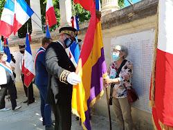 Celebración del 77º Aniversario de la liberación de Montpellier (Francia) en agosto de 1944