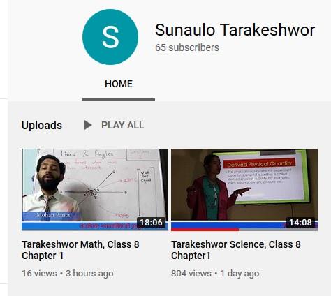 Youtube Tutorial from Tarakeshwor Municipality, Kathmandu