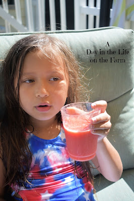 young girl with a Mocktail