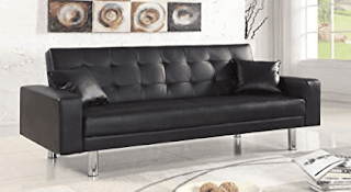 best unfolded faux leather sofa bed