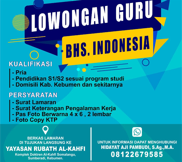 LOWONGAN GURU BAHASA INDONESIA DI SEKOLAH SMK