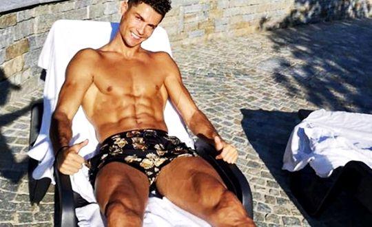 Caught in the corona, Ronaldo spends the quarantine process by sunbathing