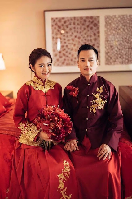 traditional Chinese wedding attire Ady An
