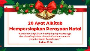 20 Ayat Alkitab Mempersiapkan Perayaan Natal