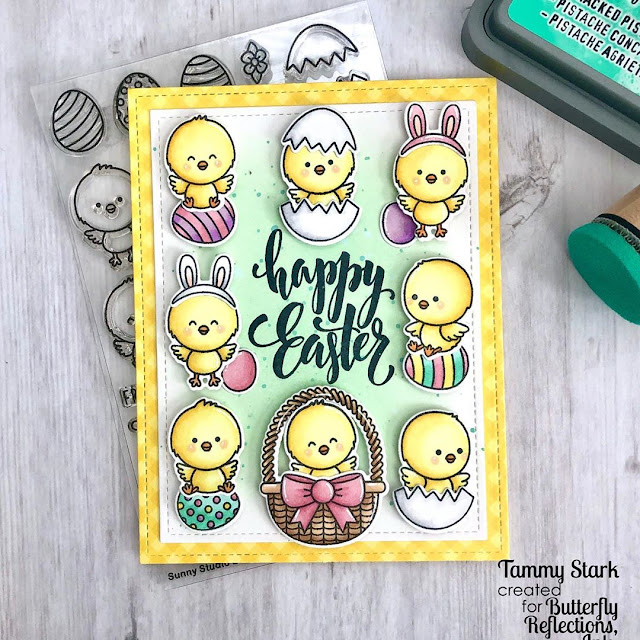 Sunny Studio Stamps: Chickie Baby Customer Card by Tammy Stark