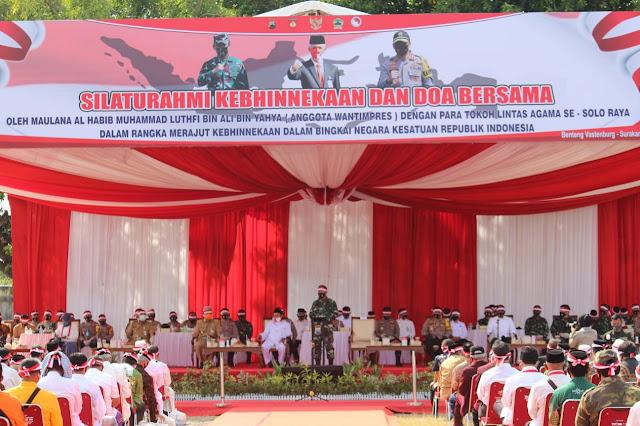 Kodim Karanganyar - Silaturahmi Kebhinekaan Dan Do'a Bersama