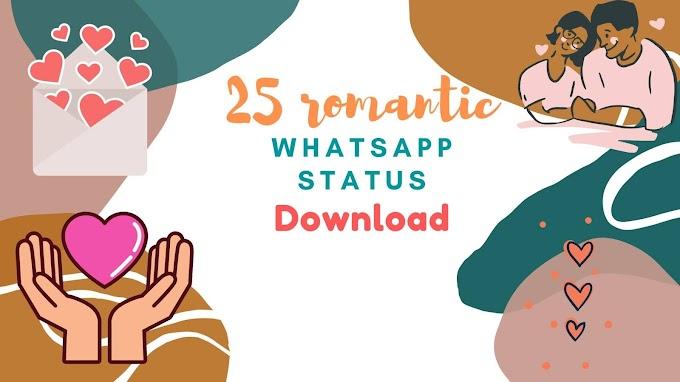 25+ Best Romantic💙 Whatsapp Status Video Download💑💑