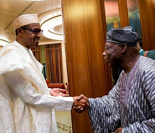 Again, Obasanjo In Secret Meeting With Buhari At Aso Rock