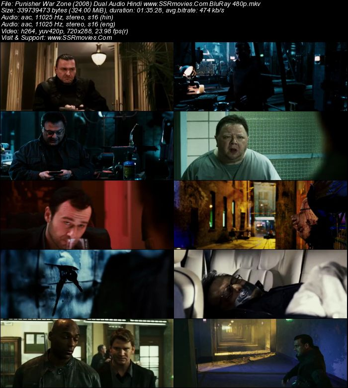 Punisher: War Zone 2008 Hindi Dual Audio BRRip 480p 720p