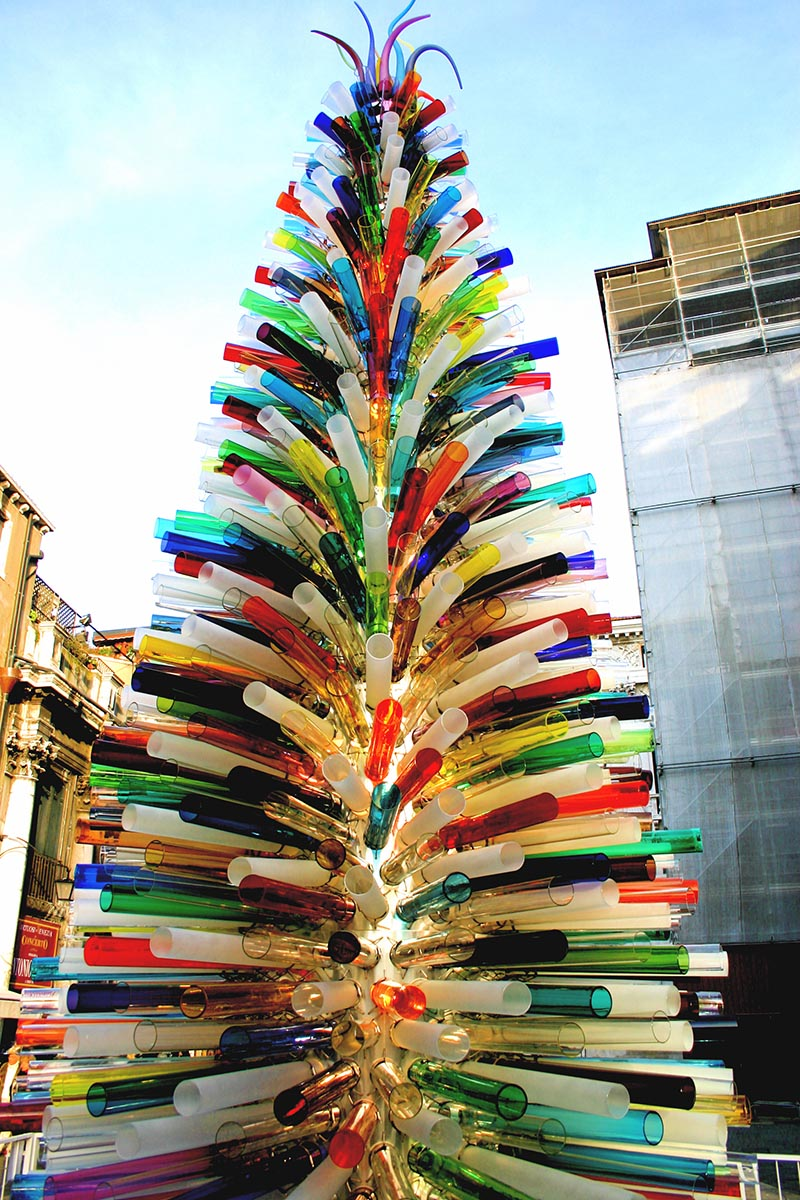 Exceptionnel Murano Glass Christmas Tree