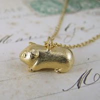 Guinea Pig Pendant Necklace Jewellery Blog