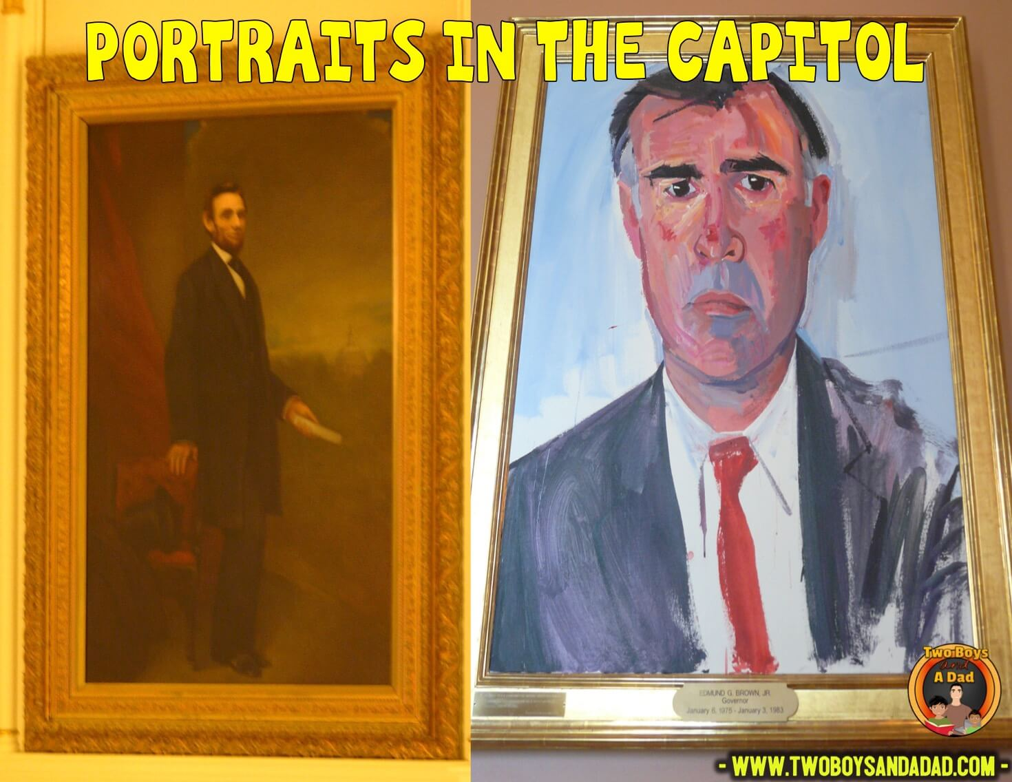 Official portraits in the Capitol