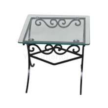 Wrought Iron Glass End Table in Port Harcourt, Nigeria