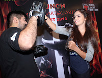 Shazahn P & Prateik Babbar at Gold Gym's Mixed Martial Arts