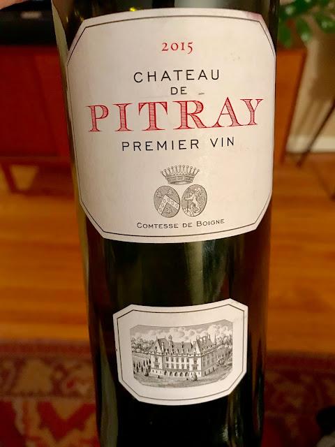 2015 Château de Pitray Castillon Côtes de Bordeaux. Photo By Nicole Ruiz Hudson