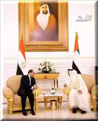 رئاسة الجمهورية: السيسي و ولي عهد أبو ظبي للتنسيق في القضايا العربية