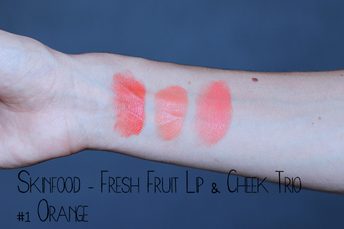 SKINFOOD Fresh Fruit Lip & Cheek Three Colors orange свотч