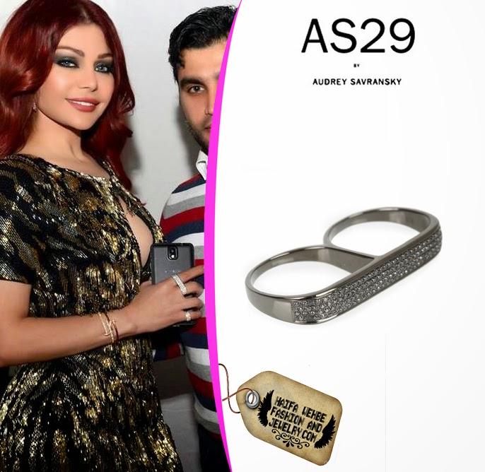 071fa644a4 Haifa Wehbe wearing Lana Double Barrel Ring by AS29