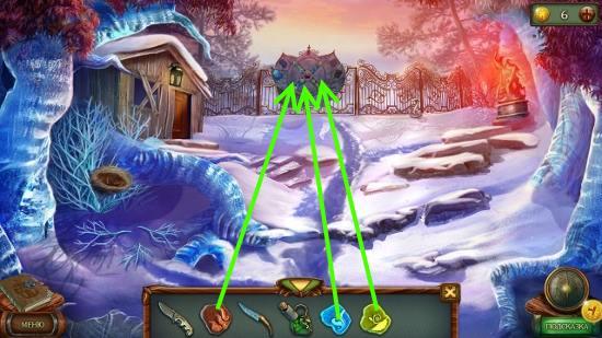 выставляем все камни на воротах в игре наследие 3 дерево силы