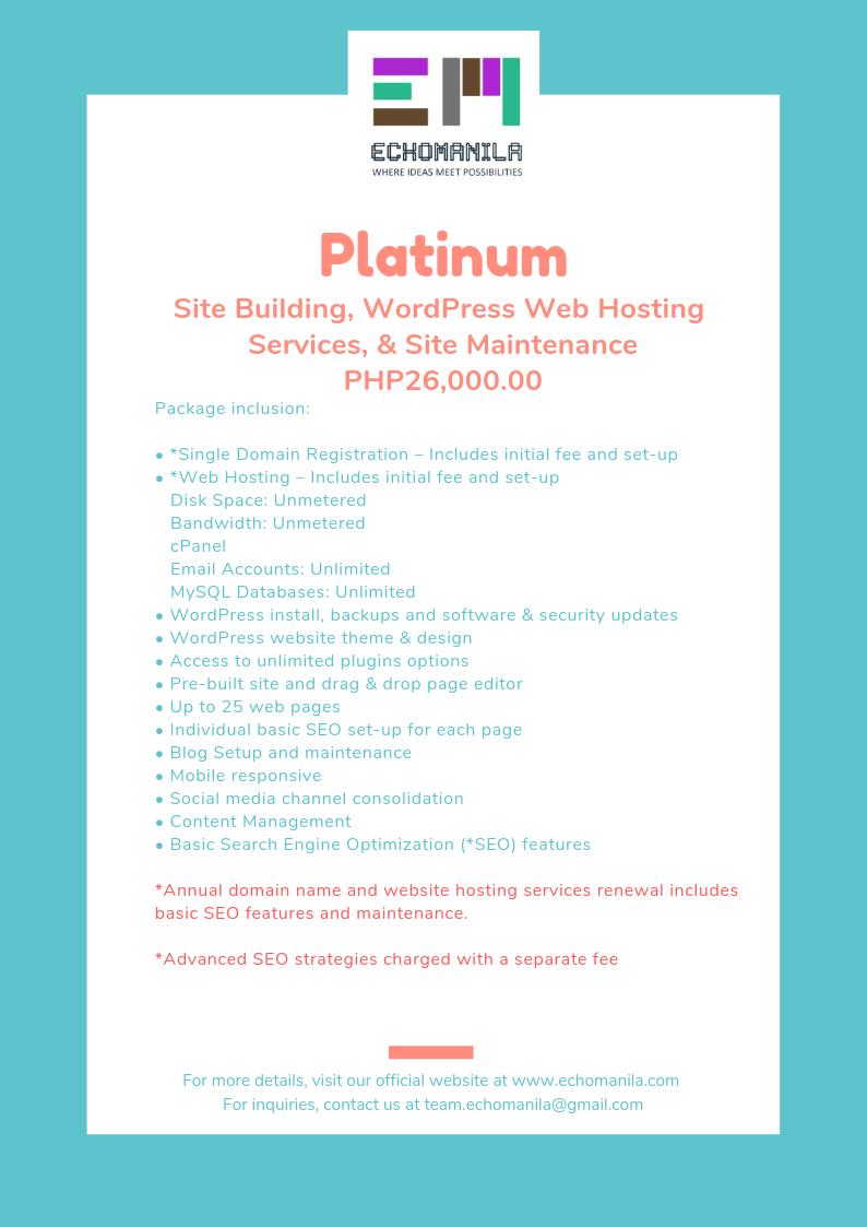 echomanila-wordpress-web-hsoting-package-platinum
