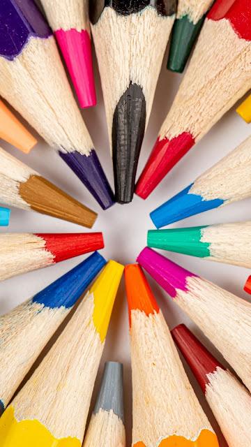 HD Wallpaper Pencils, Multicolor, Macro