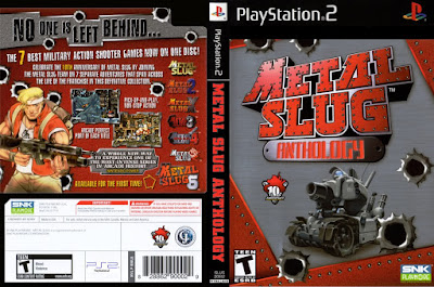Jogo Metal Slug Anthology PS2 DVD Capa