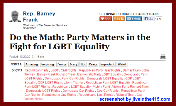 "US Rep. Barney Frank writes ""Do the Math"" for the Huffington Post."