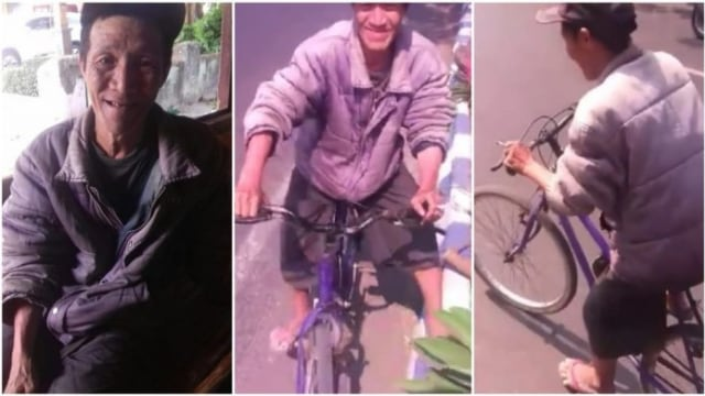 Kakek Ini Bersepeda Solo-Pasuruan demi Mengembalikan Dompet Jatuh