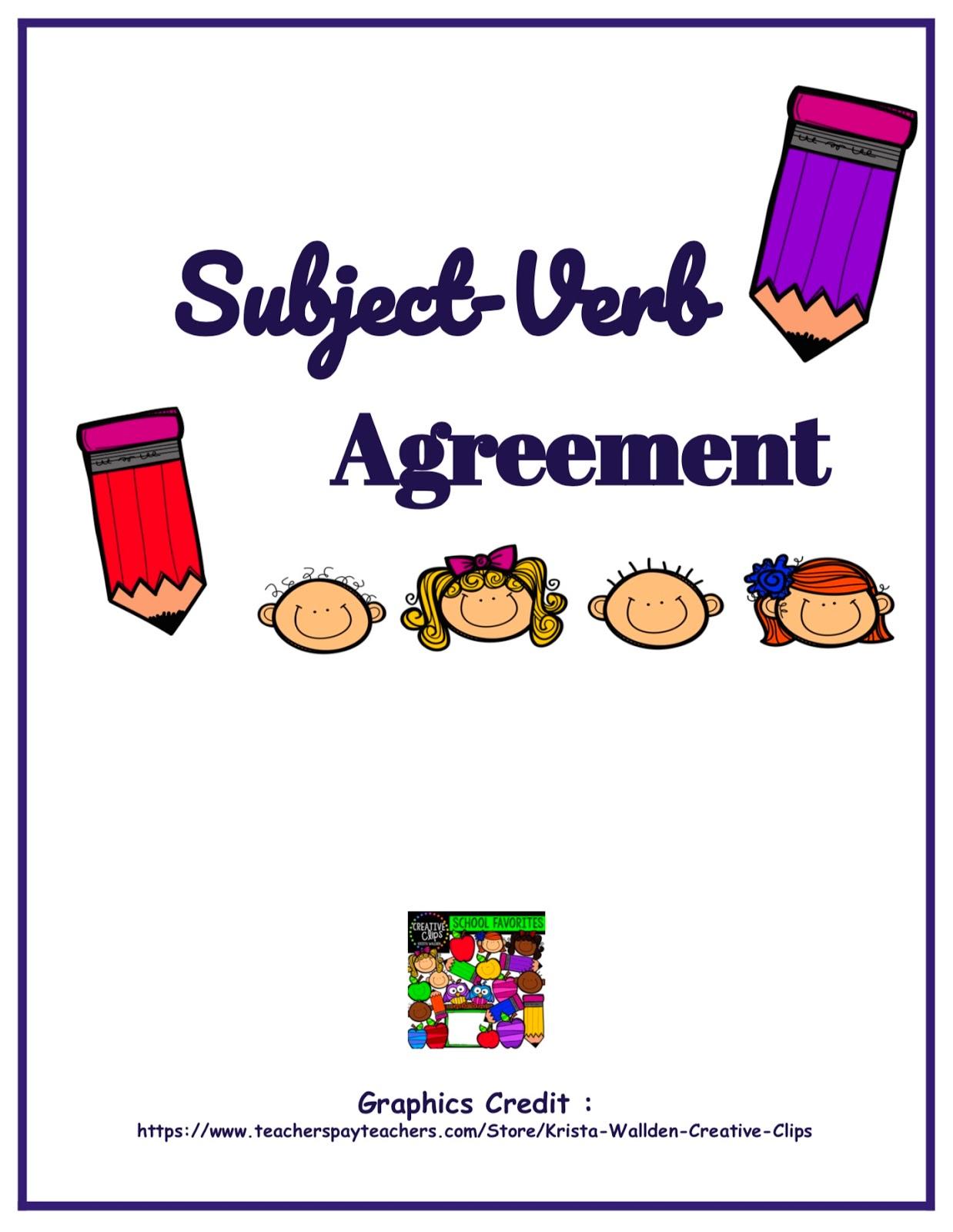 Iloveteaching Subject Verb Agreement