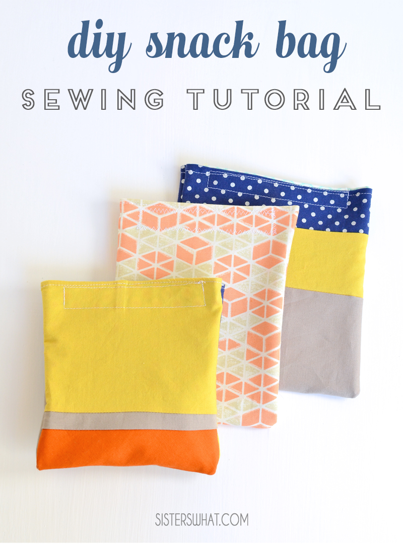diy snack bags sewing tutorial