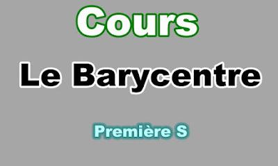 Cours de Barycentre Première S PDF