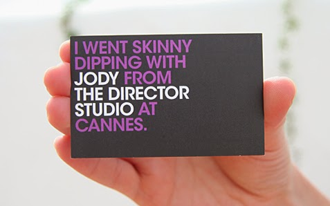 William Cookson - Graphic Design - Skinny Dipping Business Card