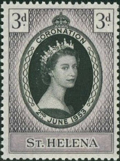 St Helena 1953 Coronation of Queen Elizabeth II.